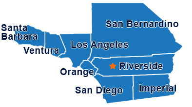 map of Frametek Steel California service and delivery area for steel manufacturing